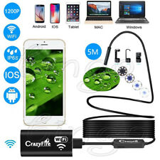 16FT 8LED Wireless WiFi Endoscope Semi-rigid Borescope Inspection HD Camera USA
