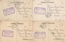 Lot 4 cartes postales anciennes LIMOGES au verso tampon georges TESTE LE DORAT