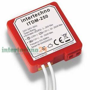 Intertechno Funk-Dimmer ITDM-250, 2 - 250 Watt, für geeig. dimmbare Leuchtmittel