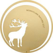 ROARING DEER - MONGOLIAN NATURE - 2017 500 Togrog 1/2 oz Sterling Silver Coin