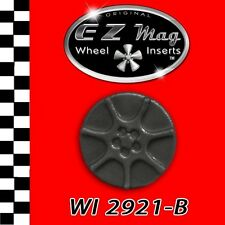 WI2921B Black Seven Spoke Euro Style EZ Mag Wheel Inserts Fits 1/24 Slot Cars