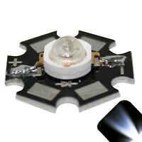 5 x LED 1 Watt Cool Clear White Star Bright Wide Angle High Power LEDs 1w w