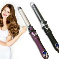 Professional Automatic 360° 2-Way Rotating Curling Iron Hair Brush Curler 110V