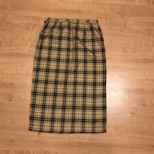 Requirements Women Size 14 Brown Plaid Maxi Skirt