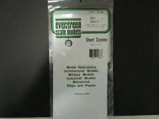 """2 sheet's of Novelty  Polystyrene 083""""/ 2.1 mm spacing .040 Ever Green  #4083"""