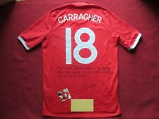 LIVERPOOL ENGLAND JAMIE CARRAGHER HAND SIGNED ENGLAND SHIRT - NEW - PHOTO PROOF