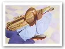 Down and Saxy Dane Tilghman African American Art Print 22x28