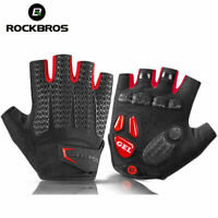 ROCKBROS Cycling Short Half Finger Gloves Gel Liquid Silicone Shockproof Gloves
