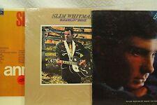 Lot LP Records Slim Whitman ramblin rose 15 ANNIVERSAIRE ALBUM BLUE GENE PITNEY