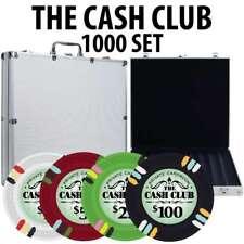 Cash Club Casino Poker Chip Set 1000 Poker Chips Aluminum Case
