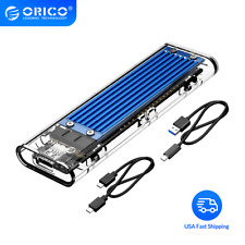 ORICO Transparent TCM2-C3 USB3.1 Gen2 Type-c M.2 NVME SSD HDD Enclosure