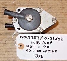 FUEL PUMP #0398387 #0438556 JOHNSON EVINRUDE 90 100 115 HP 1987-1998