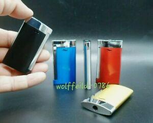 Jet Flame Gas  Lighter Pocket Size Light Windproof UK Seller Multi Colour Option