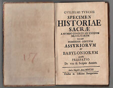 GUILIELMI TURKII-SPECIEM HISTORIAE SACRAE A MUNDO CONDITO ... 1712-N19