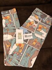 LuLaRoe OS One Size Disney Winnie the Pooh Piglet Comic Strip Unicorn Leggings