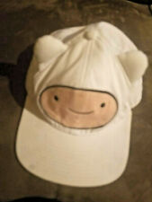 Adventure Time Finn White Trucker Snapback Hat Baseball Cap 3D