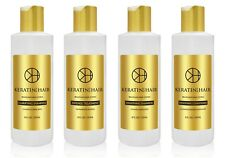 Keratin For Hair Intense Complex Damaged Dry Frizzy Coarse Curly 8 oz 4pc Kit
