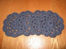 CROCHET New & Handmade Set Of 4 Coasters/Doilies.Slate Grey.Gift