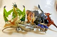 "Dinosaur DWALLC 66620 Lot of 8 Assorted Dinosaurs Small to 9"" tall some Moveable"