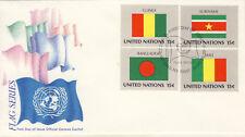 Ersttagsbrief UNO New York MiNr. 352-355, Flaggen der UNO-Mitgliedsstaaten (II)