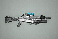 "BBI 1/6 Black M4 Assault Rifle Gun Model + M203 Grenade for 12"" Figure W-135"