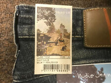 NUDIE JEANS TUBE TOM NAVY NAILS BRAND NEW  RETAIL $139. FREE SHIPPING