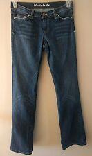 Women's Plastic by Gly Dark Blue Jeans Distress Style Size 7 Juniors
