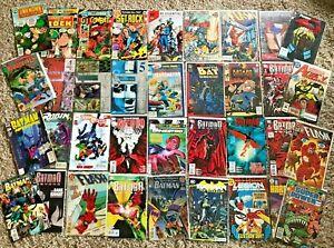Huge Lot 35 Comics ALL DC 1970s & Later Batman Flash Hardware Deathstroke MORE!