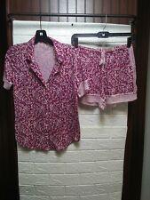 Victoria Secret WOmens Pajama 2 Piece Set Pink Shades Size XSmall