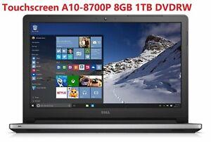 "New DELL Inspiron i5555-2866SLV 15.6"" TouchScreen AMD A10-8700P 8GB 1TB DVDW W10"