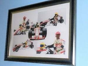 F1 Formula one Car Lewis Hamilton Large A2 Size Poster Picture Print Framed