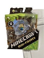 Minecraft Mini Figures Grass Series 1 3 Pack Cow Steve? Spider