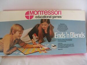 """MONTESSORIE Game """" Ends 'n Blends """" educational  1968 complete"""