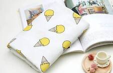Ice Cream Corn Printed Double Gauze Fabric made in Korea by the Yard