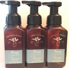 3 Bath & Body Works Aromatherapy Focus Eucalyptus Tea Gentle Foaming Hand Soap