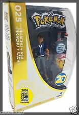 SDCC Comic Con 2016 Exclusive Pokemon 20th Anniversary  Ash & Pikachu Figures