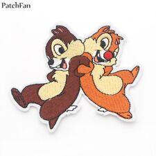 patch, tic, tac , écureuils , thermocollant et brodés 10,5/8.5cm