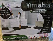 Yimobra 3 Piece Bath Mat Set Extra Large Shaggy Chenille Bathroom Mats Bath Whte