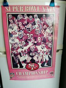 San Francisco 49ers Vintage Super Bowl XXIX Poster 1995 NFLP  36x24 inches RARE