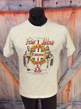 VTG TEE SHIRT DATED 1988 POARCH CREEK INDIANS POW WOW RUN GREAT GRAPHCS LG