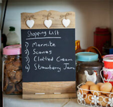 Vintage Wooden Chalk Board Sign Blackboard Memo Message Board Wedding Kitchen