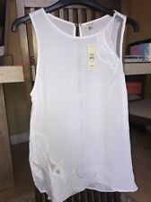 River Island White Top Size Uk8 With Detail