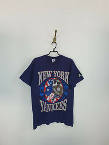 Vintage Starter New York Yankees 1994 MLB Blue T-Shirt Men Size: M