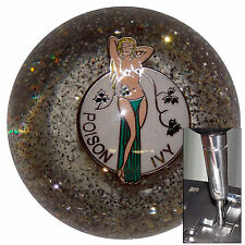 Poison Ivy Clear shift knob w/ chrome adapter for automatic shifters See desc.