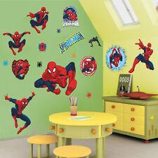 Removable Spider-man Super Hero Kids Boy Bedroom Sticker Home Decals Decor Mural
