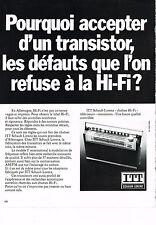 PUBLICITE ADVERTISING  1972   ITT SCHAUB-LORENZ   transistor