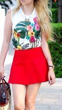 ZARA RED DOUBLE CLOTH MINI SKIRT SIZE L LARGE UK12/14