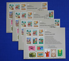 United Nations (SC32) 1987 Immunize Every Child Souvenir Card set
