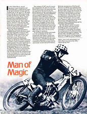 vintage CHRIS PUSEY MOTORCYCLE Racing Article / Photo's / Pictures