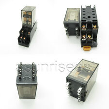 10 x Power Relay Coil DC12V DPDT 5A MY2NJ HH52P HHC68B-2Z + Socket Wholesale